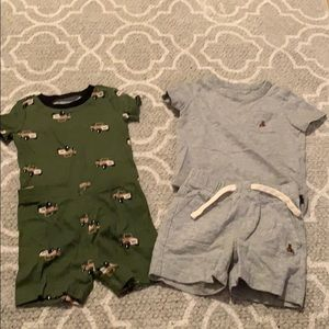 Two short sleeve and shorts sets